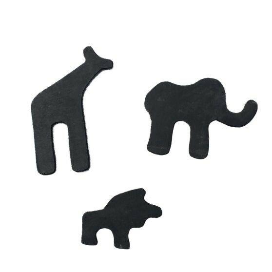 Safari krijtborden voor houten speelhuis (set van 3) - zwart - Exit (50.99.00.00)