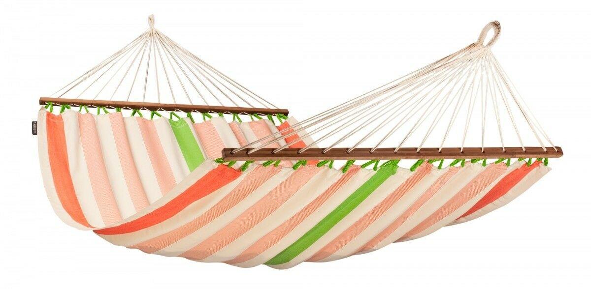 Tweepersoons spreidstok hangmat outdoor - Colada Mango - LA SIESTA (COR14-5)