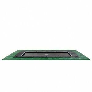 EXIT Dynamic groundlevel trampoline 305x519cm met Freezone veiligheidstegels - zwart