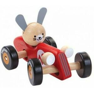 Racewagen - Konijn - Rood
