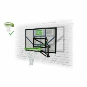 Exit Galaxy Basketbalbord Voor Muurmontage Met Dunkring - Groen/Zwart