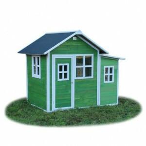 Loft 150 houten speelhuis - groen - Exit (50.02.12.00)