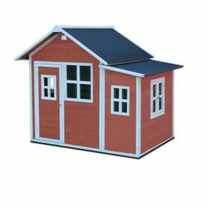 Loft 150 houten speelhuis - rood - Exit (50.02.13.00)