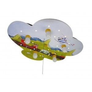 Plafondlamp Wolk - Auto's (Compatibel Met Amazon Echo)