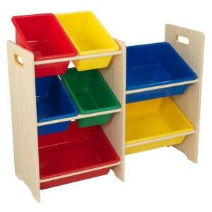 7-delig Opbergsysteem 'Sort it en Store it' (primaire kleuren) - KidKraft (15470)