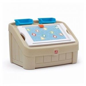 2-in-1 Toy Box & Art Lid - Tan - Step 2 (845500)