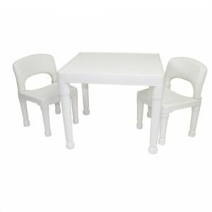 Witte kindertafel & 2 stoelen set