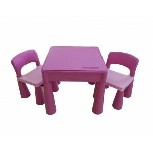 5 in 1 multifunctionele activiteitentafel en 2 stoelen - roze