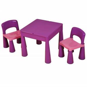 5-in-1 multifunctionele activiteitentafel en 2 stoelen - Paars (899V)