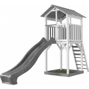 AXI Beach Tower Speeltoren Grijs/wit - Grijze Glijbaan