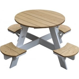 Axi Ufo Picknicktafel Rond Bruin/Wit