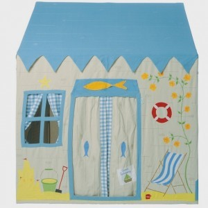 Win Green Beach House Playhouse (groot) + Floor Quilt