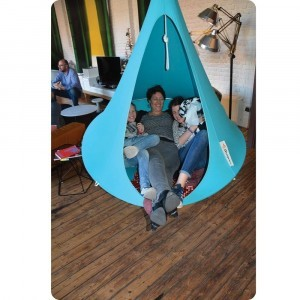 Hangende tent 1 persoon Light Blue Turquoise - (Cacoon)