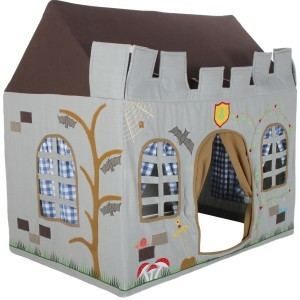 Knight Castle Playhouse (klein) + Floor Quilt (Win Green)