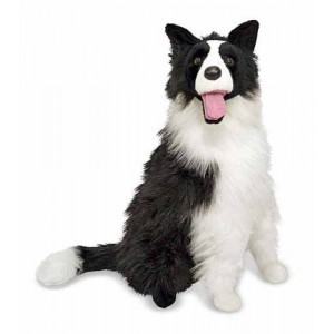 Grote Pluche Hond Border Collie Kelby