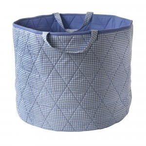 Gingham Toy Basket (Blauw) - Kiddiewinkles (BLUEGTB)