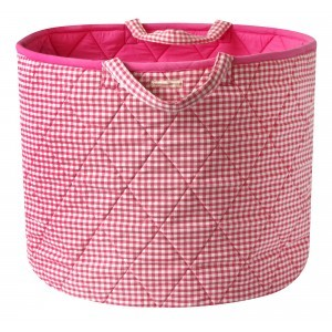 Gingham Toy Basket (Roze) - Kiddiewinkles (PINKGTB)