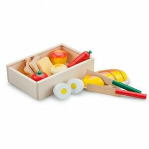 Houten Ontbijtbox Snijset in een Kistje - New Classic Toys (0580)