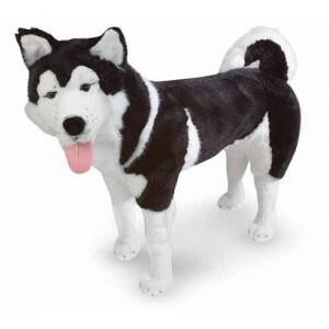 Grote Pluche Hond Husky Kyra