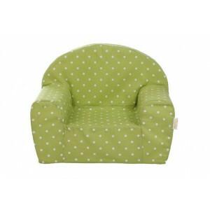 Kinder Fauteuil Stoel (lime-groen met witte stippen) - Gepetto (05.07.06.00-gr)