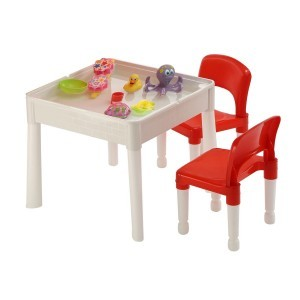 Multifunctionele 6-in-1 Activiteitentafel en 2 Stoelen Set