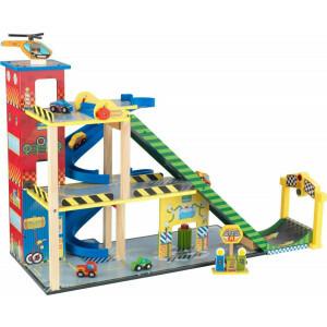 Mega Ramp Raceset met Mega Schans - Kidkraft (63267)