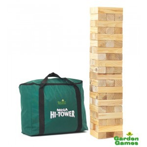 Mega Hi-Tower in een tas (Jenga) - Garden Games (7096001)