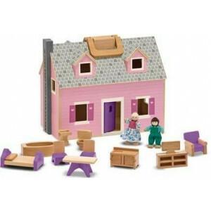 Draagbaar houten poppenhuis Melissa & Doug