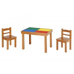 Multifunctioneel (whiteboard-blackboard-lego Top) Houten tafel & stoelen-set