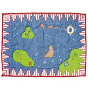 De piraat speeltent Floor Quilt (Win Green - groot)