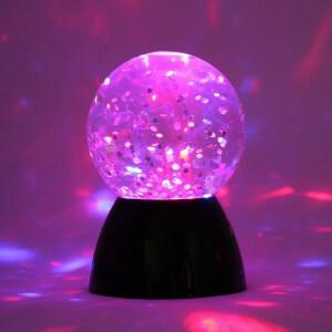 Sonsorische Glitter Waterbal Lamp