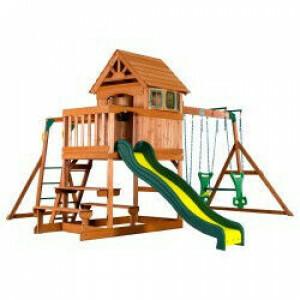 Backyard Discovery Springboro All Cedar Wood Speelset Swing Set