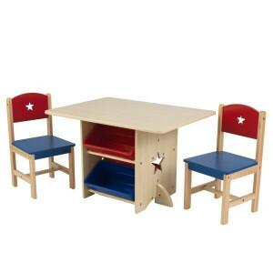 Tafel en 2 stoelen met sterren - Kidkraft (26912)