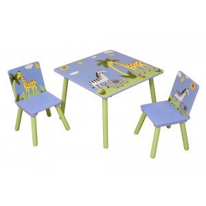 Safari vierkante tafels met 2 stoelen (TF5001)