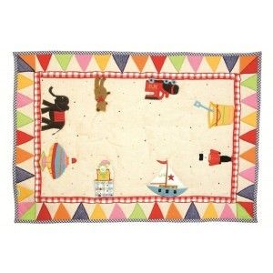 Toy Shop Playhouse Floor Quilt (klein) - Win Green (1310)