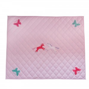 Unicorn & Butterfly Pink Floor Quilt (groot) - Kiddiewinkles (60980)