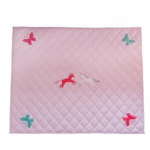 Unicorn & Butterfly Pink Floor Quilt (groot) - Kiddiewinkles (60980)