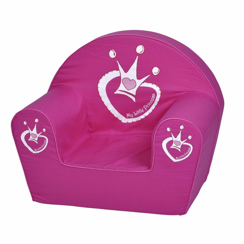 Roze Kinder fauteuil Kroon