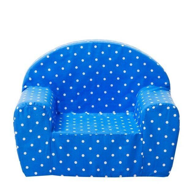 Kinder Fauteuil Stoel (blauw met witte stippen) - Gepetto (05.07.06.00-b)