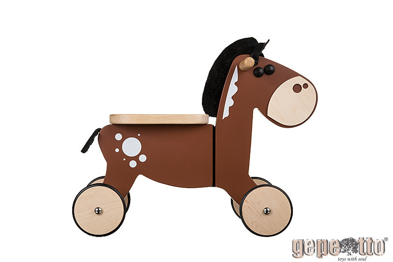 - Houten Sit'n' Ride Paard loopfiets - Gepetto(RH01 )