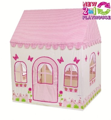 2-in-1 Rose Cottage & Tea Shop Playhouse (Groot) - (01LTPH)